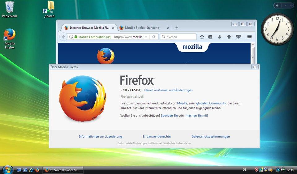 Die letzte Firefox-Version für Windows Vista und XP.