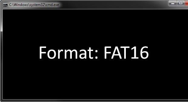Fat16 Formatieren