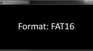 FAT16 formatieren (USB-Stick, SD-Karte, Festplatte)