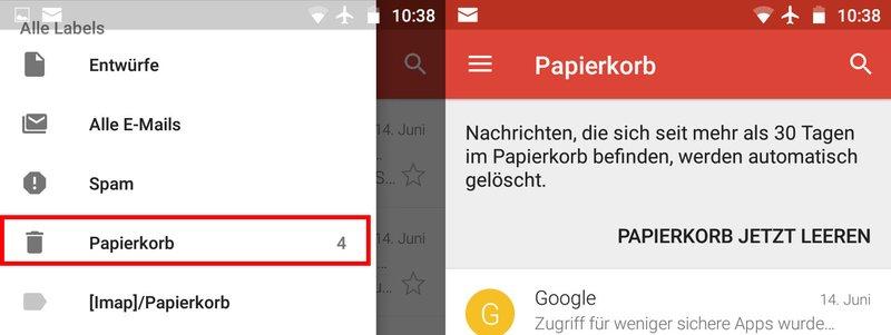 Android: Papierkorb leeren – so geht's – GIGA