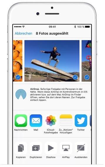 iCloud Fotofreigabe hinzufügen