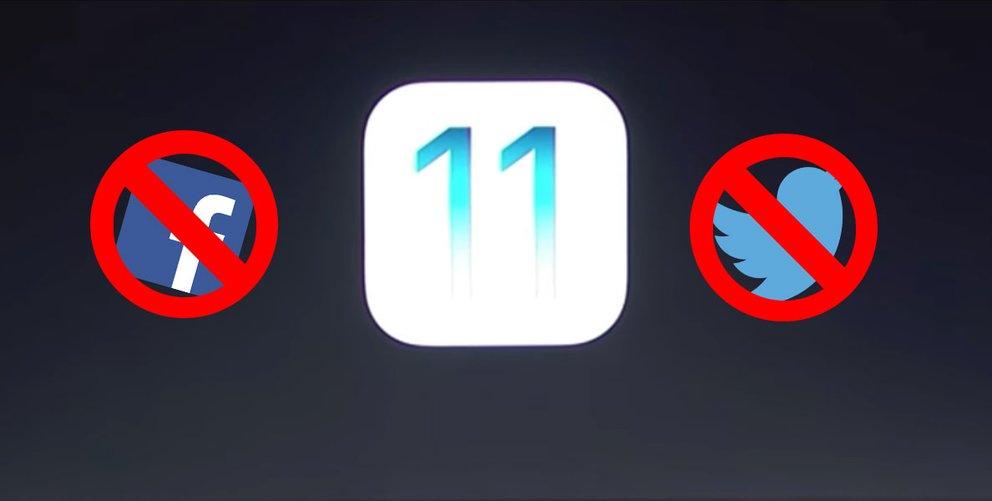 iOS 11 streicht Integration von Facebook und Twitter
