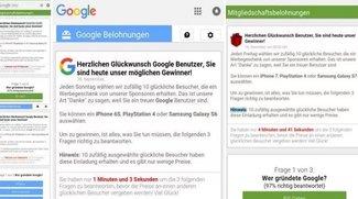 Google-Gewinnspiel im Belohnungscenter: Fake oder Seriös?