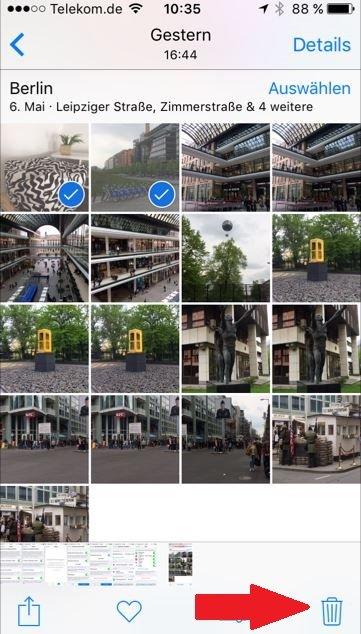 iPhone Fotos löschen