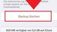 iCloud: Backup löschen – so geht's