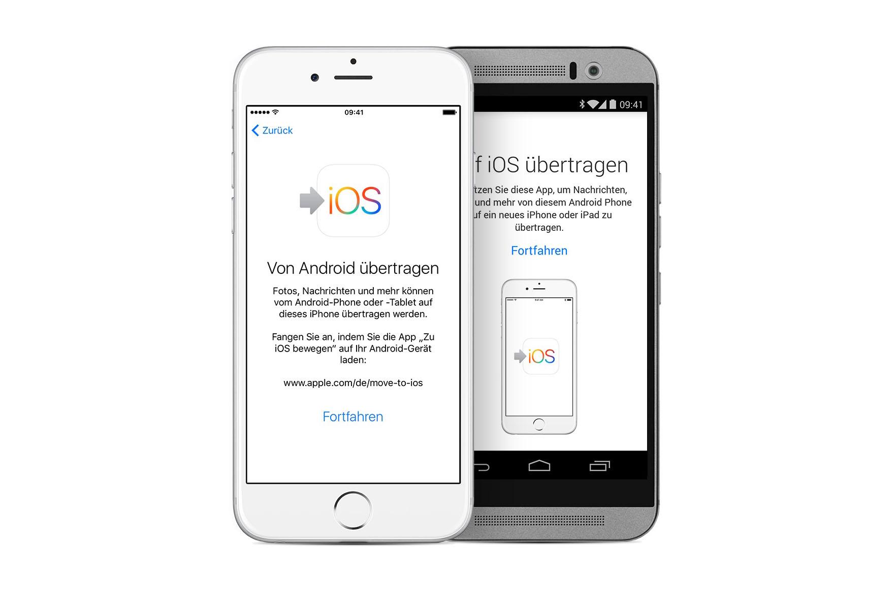 iphone daten von ios übertragen