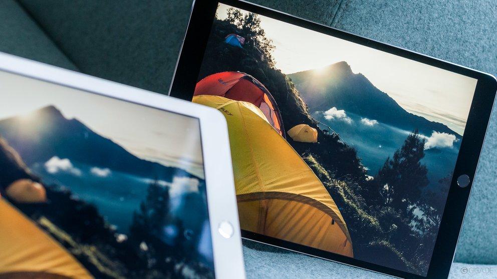 Das Display des neuen iPad Pro überstrahlt die bisherigen Modelle merklich.