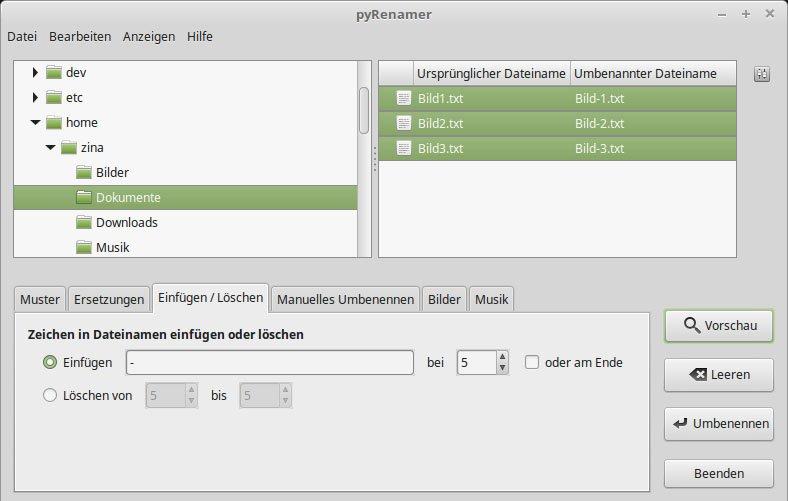 So könnt ihr Zeichen in allen Dateinamen ab einer bestimmten Position einfügen oder löschen