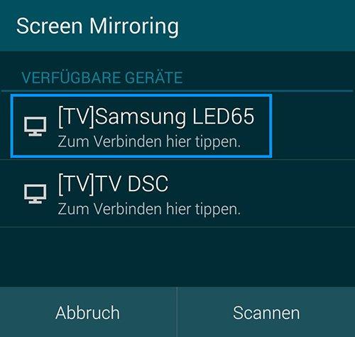 Wählt hier euren Samsung-Fernseher aus. Bildquelle: Samsung
