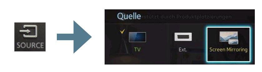 So aktiviert ihr Screen Mirroring auf dem Samsung-TV. Bildquellen: Samsung