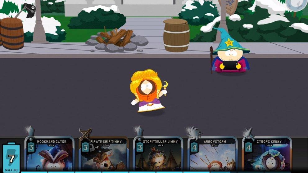 Kenny ist noch eine Prinzessin. Ob sie wieder mit ihrem Einhorn angreifen kann?
