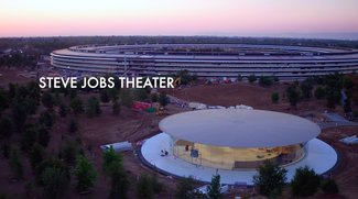 "Apple Park: Neues Drohnenvideo ermöglicht Einblick ins ""Steve Jobs Theater"""
