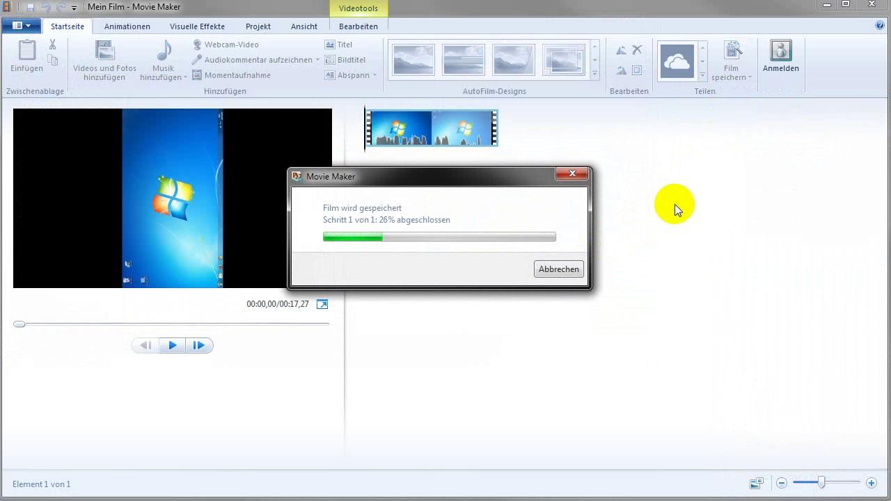 windows media player video drehen