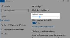 Windows 10: Bildschirmhelligkeit ändern – so geht's