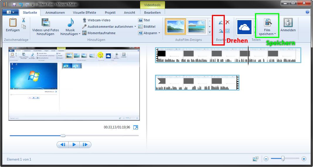 Windows Media Player: Video drehen – wie geht das?