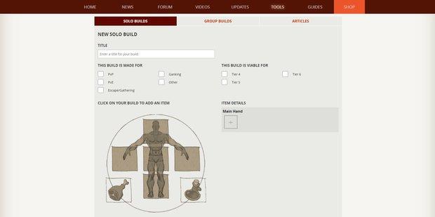 Albion Online: Character-Builder - So funktioniert das Tool