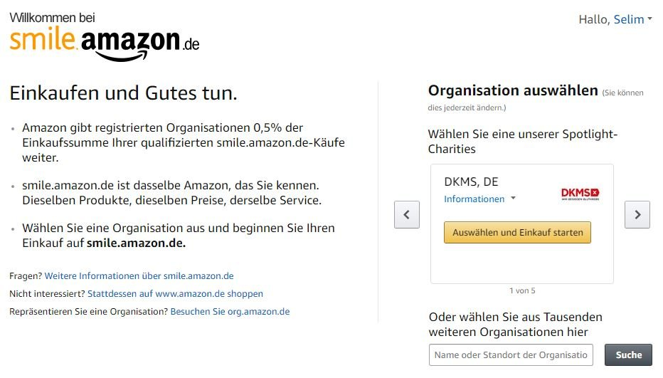 Amazon Smile Deutschland