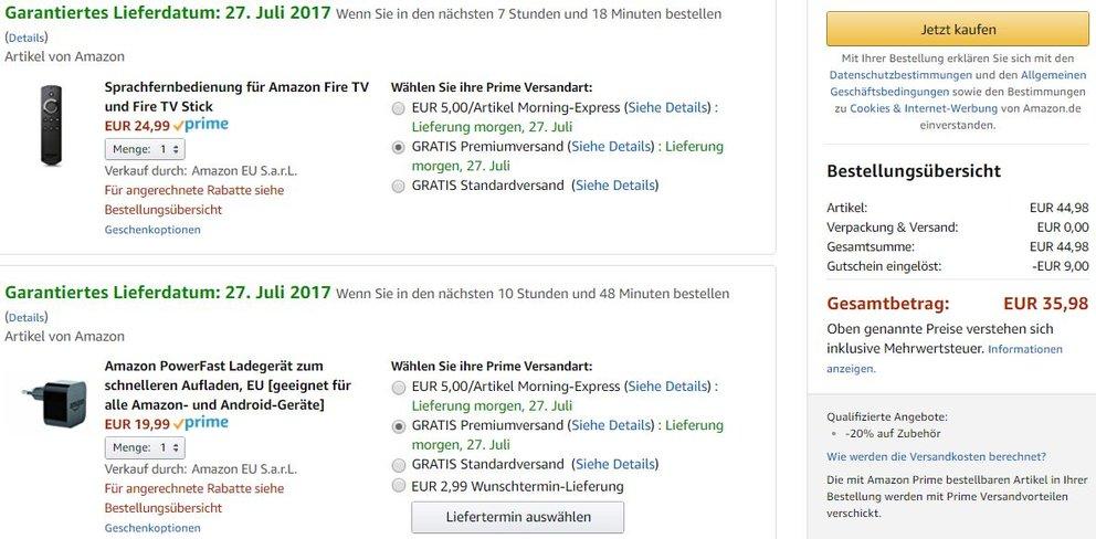 Amazon-Sommer-Rabatt-Checkout