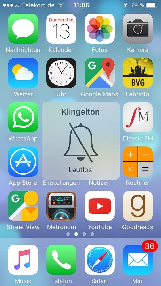 iPhone lautlos