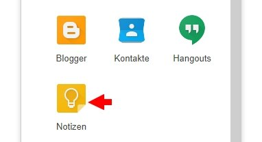 Google Notizen PC Browser
