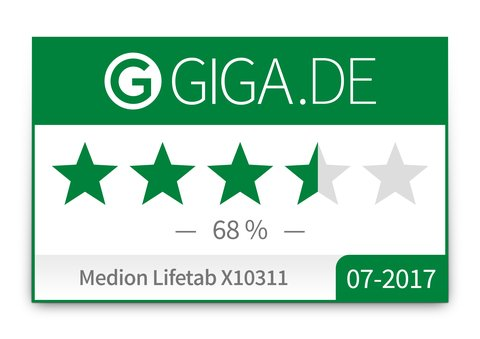 Medion-Lifetab-X10311-Test-GIGA-Wertung-Badge
