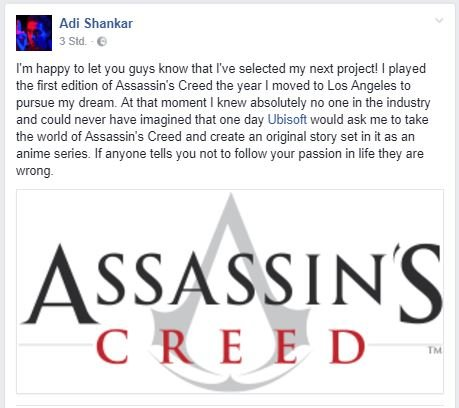 Screenshot_Facebook_Adi_Shankar_Assassins_Creed