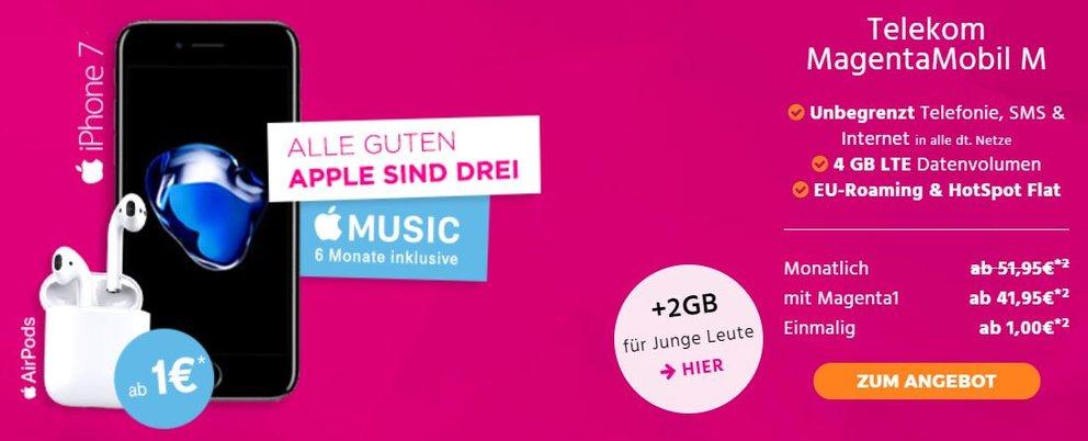 Telekom-MagentaMobil-iPhone-7-Airpods-Handyflash