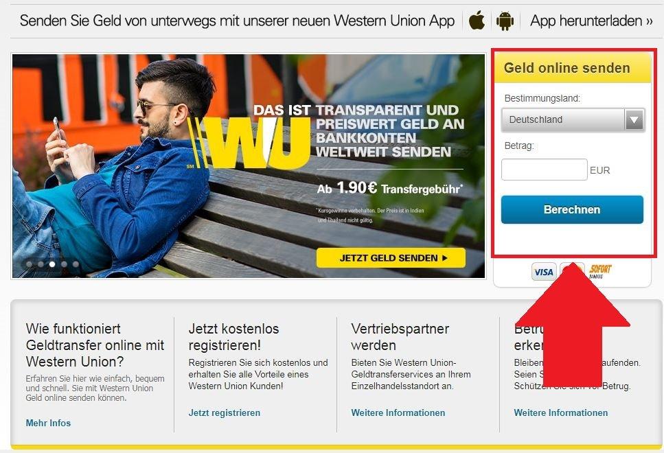 Gebühren geldversand western union Western Union