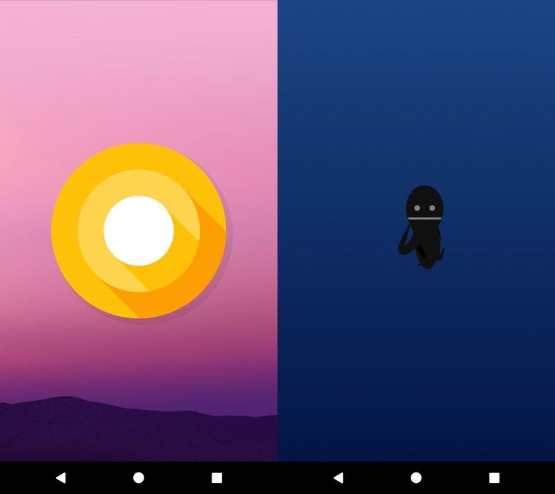 Ab Android 8 Preview-Version 4 könnt ihr einen Tintenfisch durchs Bild bewegen.