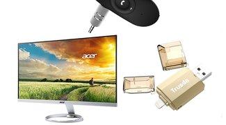 Blitzangebote: 25-Zoll-Bildschirm, Lightning-USB-Sticks u.v.m. heute günstiger