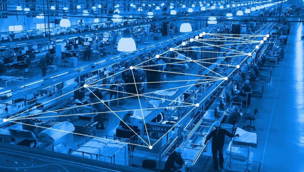 Einsatzort industrielle Fertigung: Mit Bluetooth Mesh lassen sich tausende Sensoren vernetzen (Quelle: BT SIG)