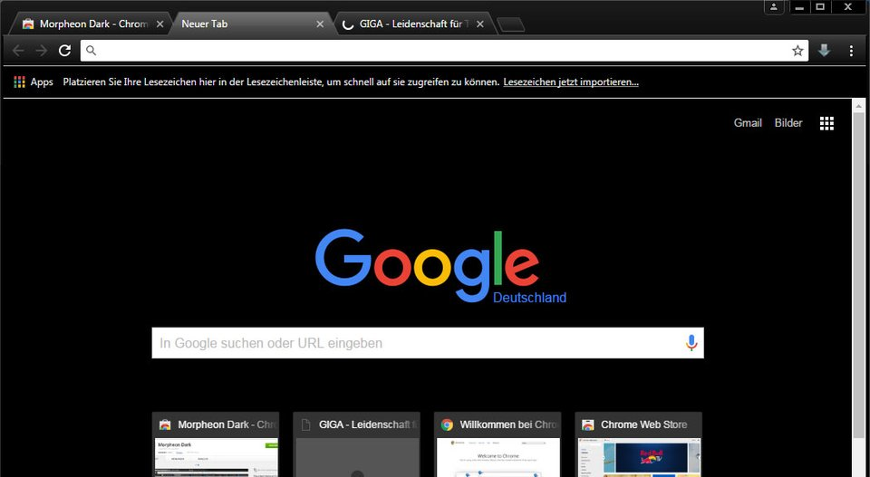 Chrome-Theme: Morpheon Dark