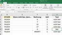 "Excel: ""Wenn Zelle (nicht) leer, dann..."" – Funktion"