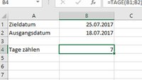Excel: Tage zählen – so geht's