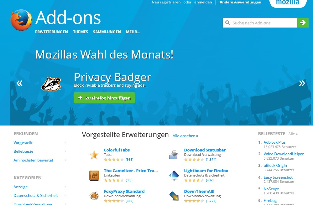 how to add ons in firefox