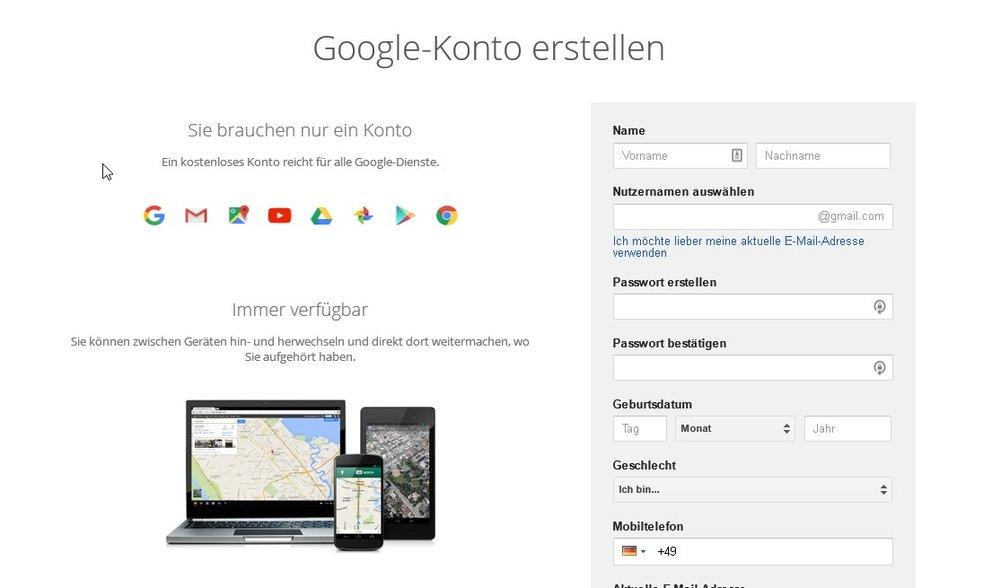 google-konto-erstellen