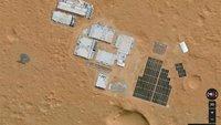 Google Maps Mars: Häuser auf dem roten Planeten