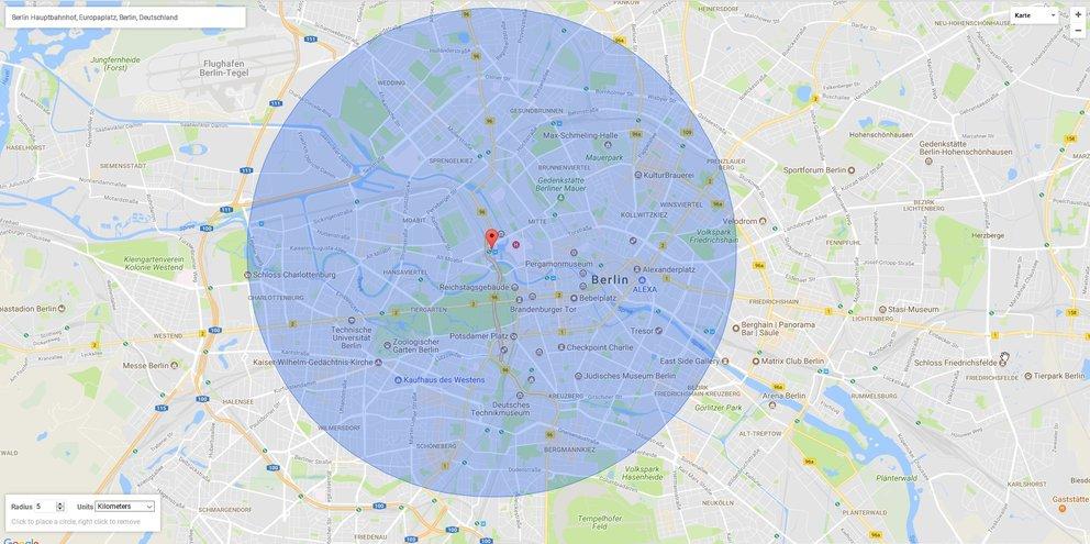 google-maps-radius-zeichnen