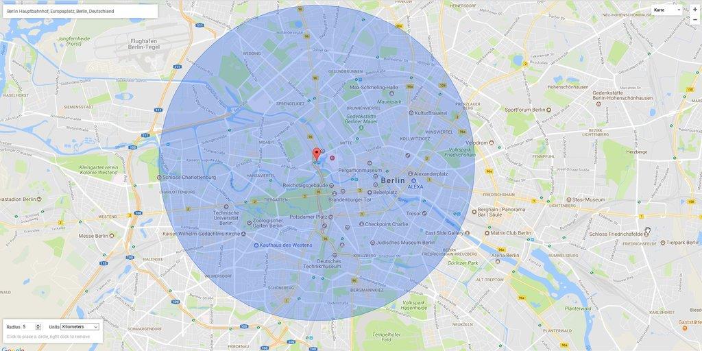 Google Maps: Radius in Karte zeichnen – GIGA