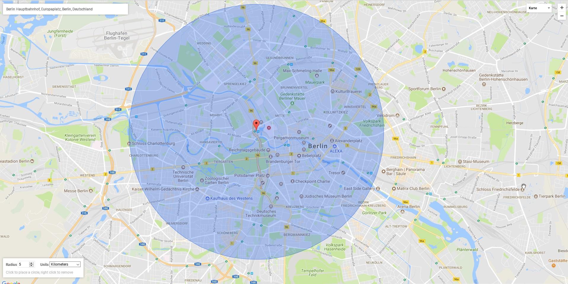 Google Maps Radius Zeichnen Bewegungsumkreis Ganz Einfach Anzeigen