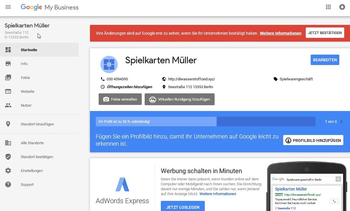 Google Unternehmen Löschen
