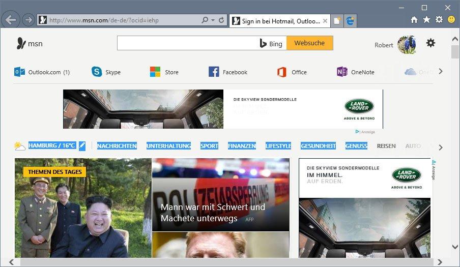 Der Internet Explorer ist recht zuverlässig.