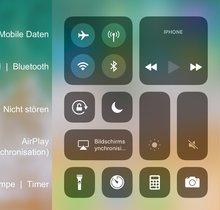 Kontrollzentrum von iPhone und iPad in iOS anpassen, so gehts