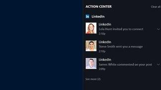 Windows 10: LinkedIn-Benachrichtigungen deaktivieren