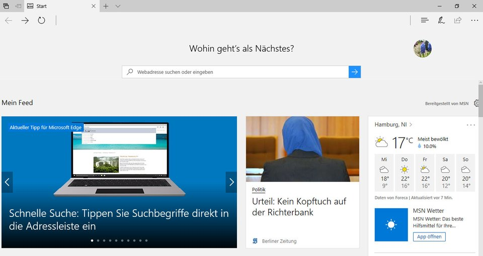 Edge ist Microsofts neuer Browser.