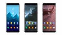Samsung Galaxy Note 8: Neues Bildmaterial und Hinweise auf frühen Marktstart