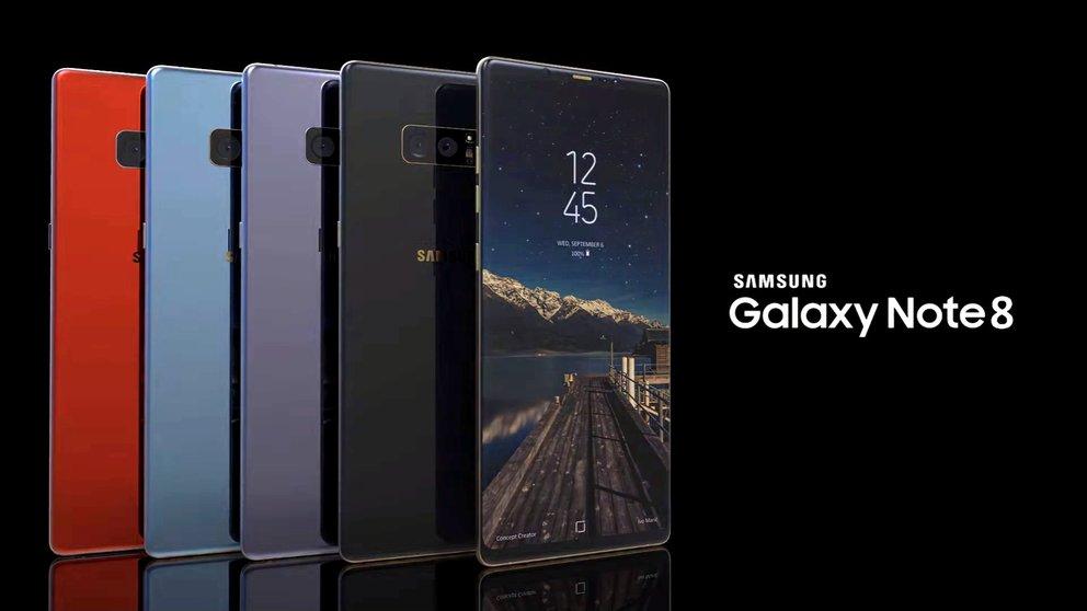 Premiere beim Galaxy Note 8: Samsung führt neue Farbe ein