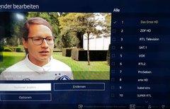 Samsung-TV: Sender sortieren...