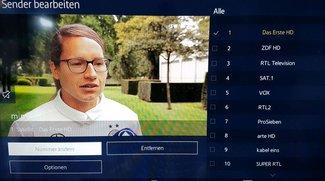 Samsung-TV: Sender sortieren am TV und im PC