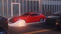 Tesla-Boss testet Tunnel-Aufzug: So verschwindet ein Auto im Untergrund